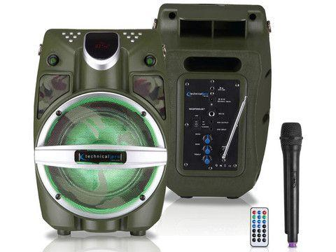 Technical Pro - Camo Series Rechargeable Portable PA System with Wireless Mic