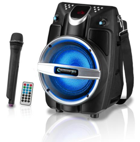 Technical Pro - Onyx Series Rechargeable Portable PA System with Wireless Mic