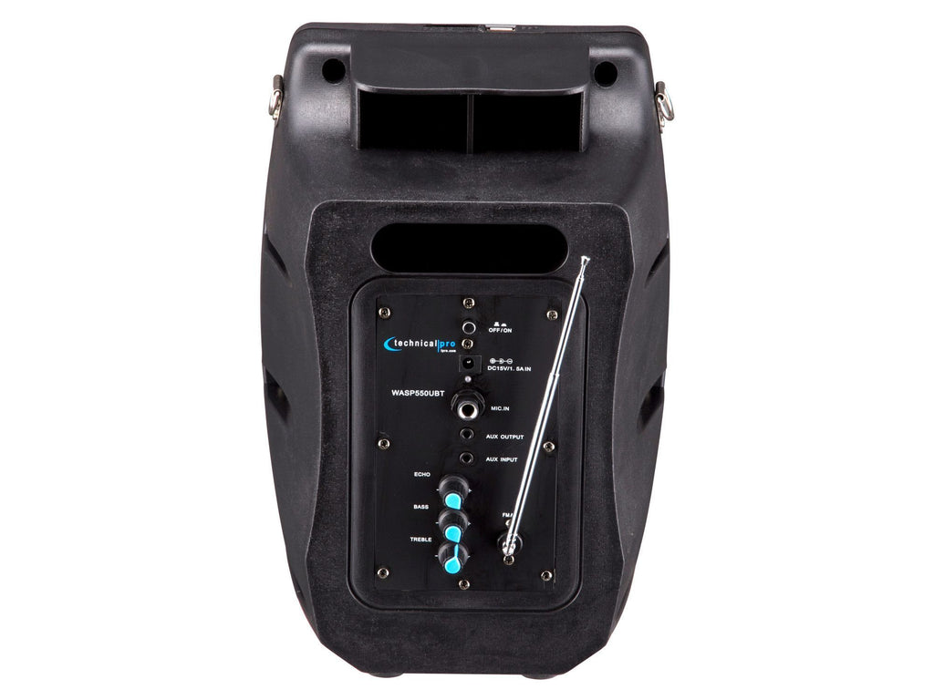 Technical Pro - Rechargeable Portable PA System with Wireless Mic