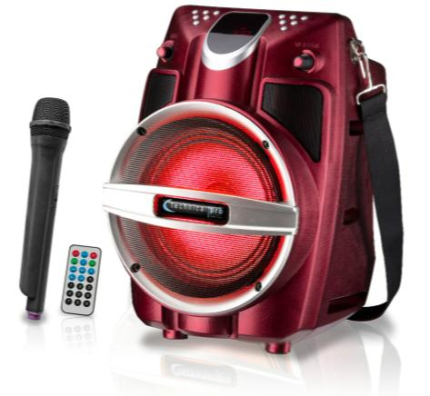Red Series Rechargeable Portable PA System with Wireless Mic