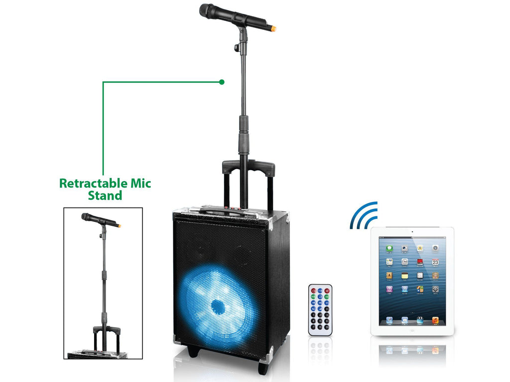 Technical Pro - Rechargeable Portable Bluetooth® Speaker with Retractable Mic Stand