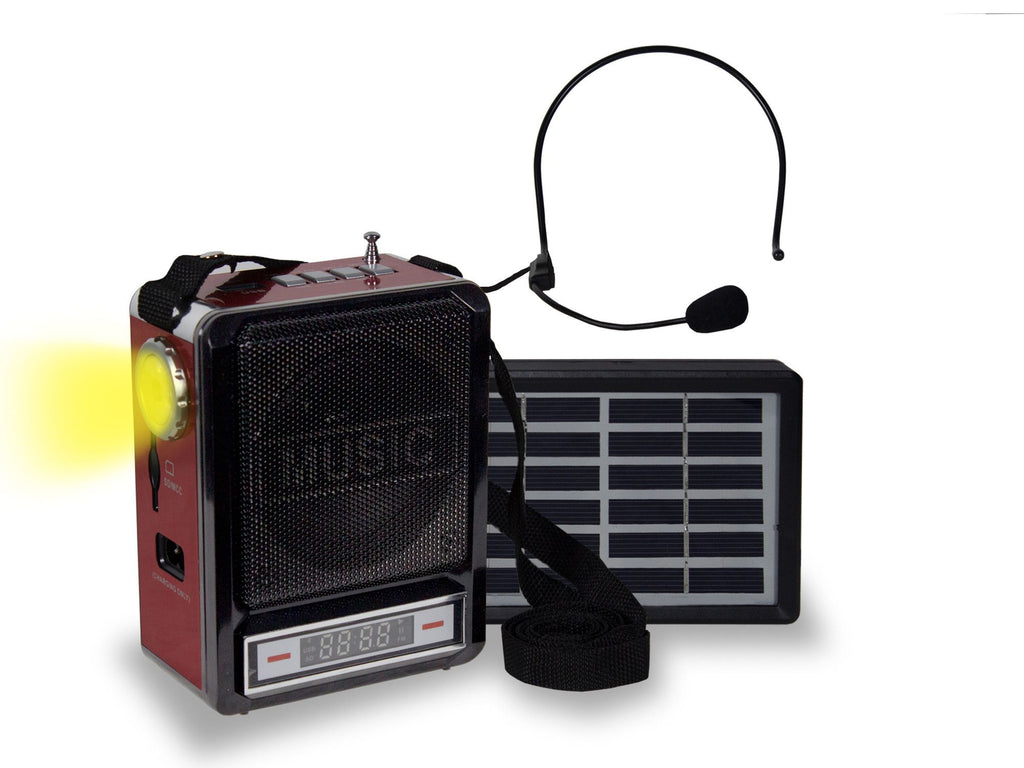 Technical Pro - Portable Battery Powered Speaker with Solar Option