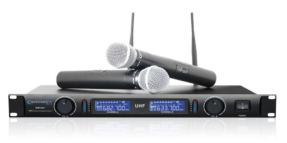 Dual UHF Wireless Microphone System