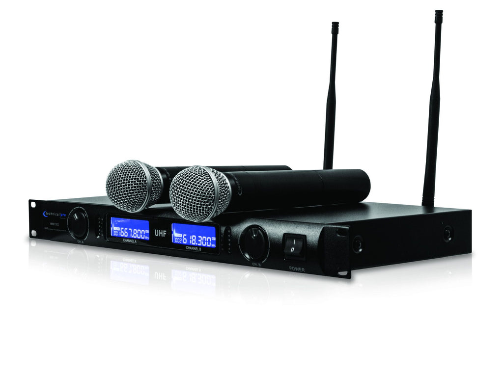 Technical Pro - Dual UHF Wireless Microphone System