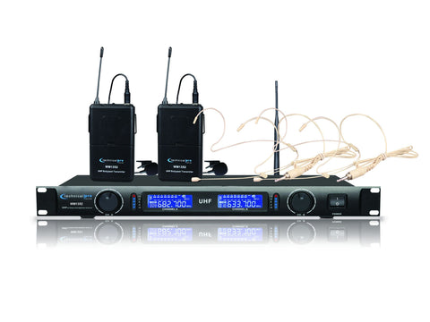 Single UHF Headset & Lapel Microphone System