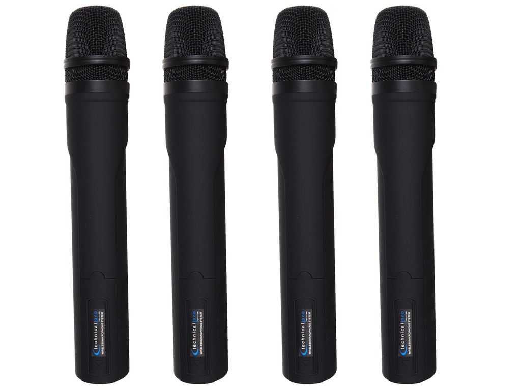 Pro VHF Quad Wireless Microphone System