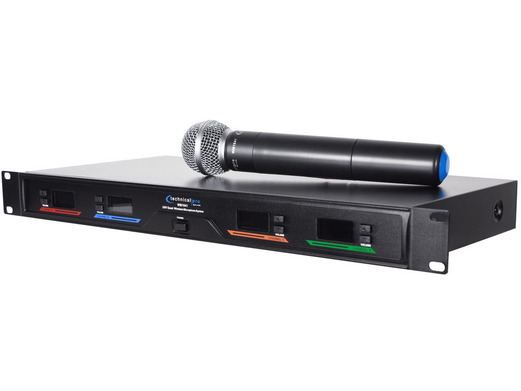 Technical Pro - Quad UHF Wireless Microphone System