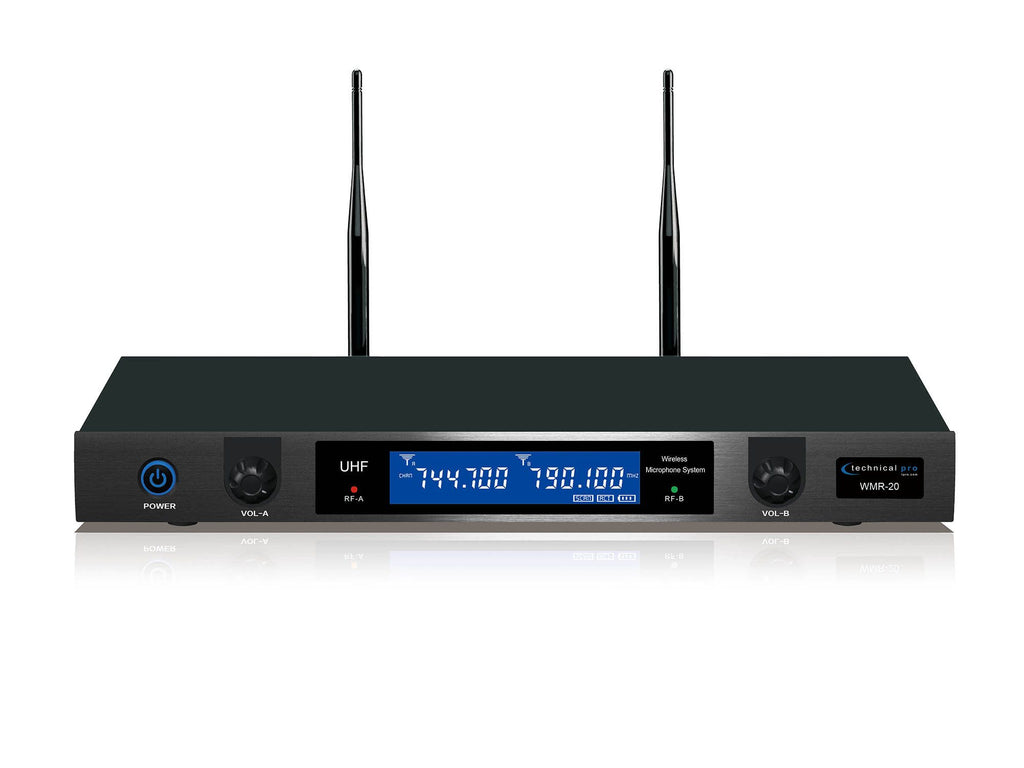 Pro UHF Dual Wireless Microphone System