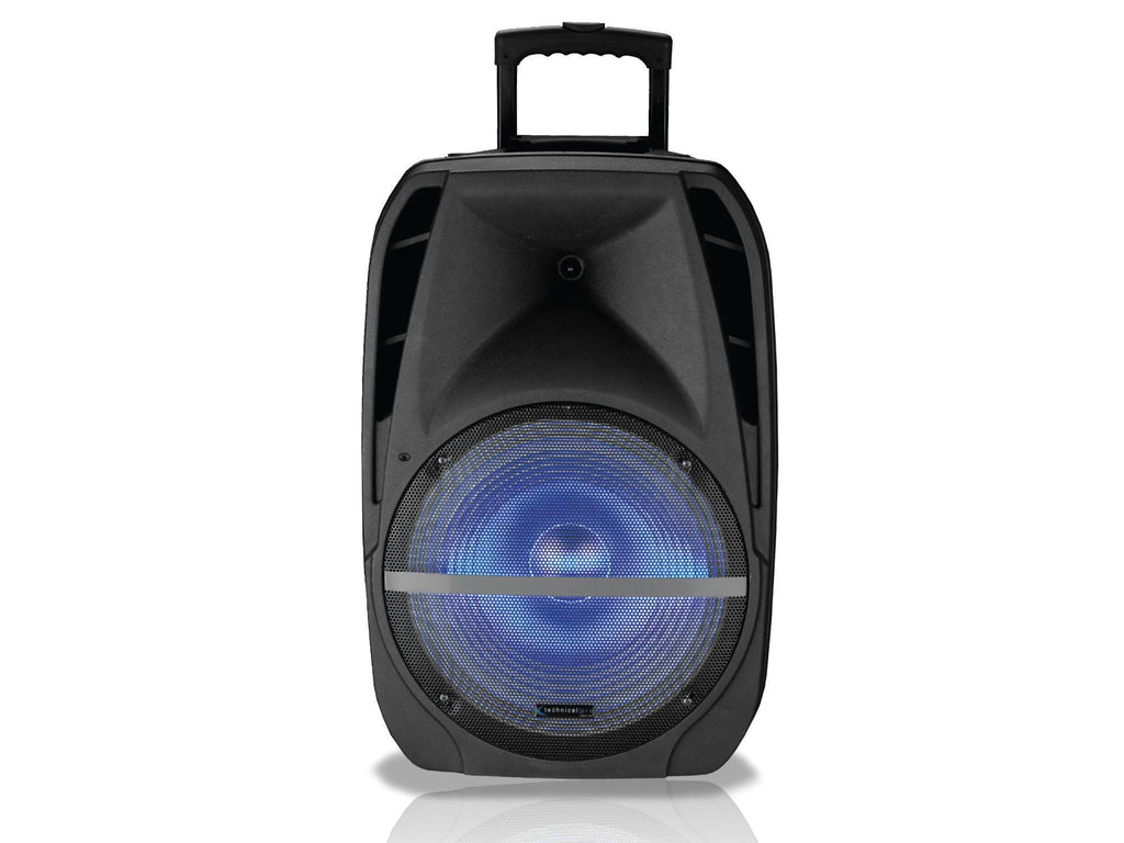 "Technical Pro - Rechargeable 12-15"" Active Loudspeaker with LED Option"