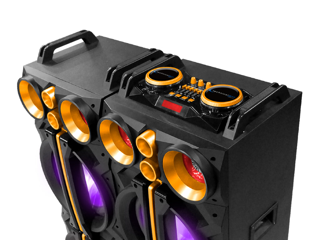 "Bluetooth® Powered 2x Dual 12"" Speaker System"