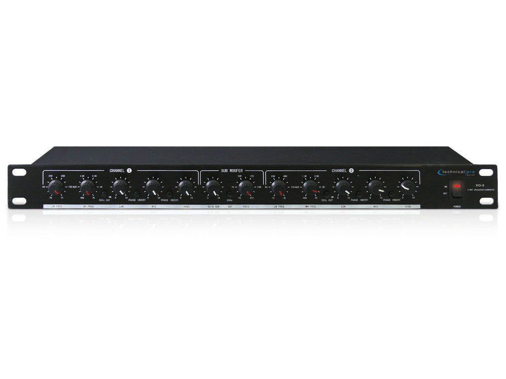 Technical Pro - 3 Way Crossover with Subwoofer Output