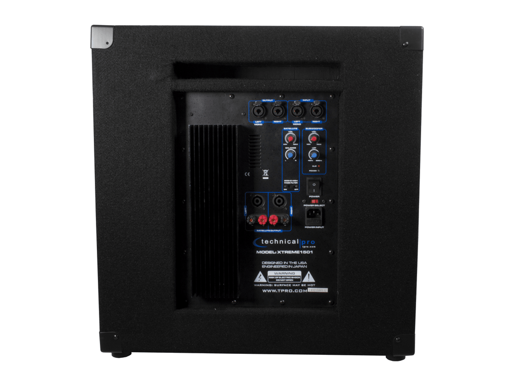 Technical Pro Active 15 Carpeted Subwoofer Amplifier Using Tda2009a 12 Watt 15x2 Audio
