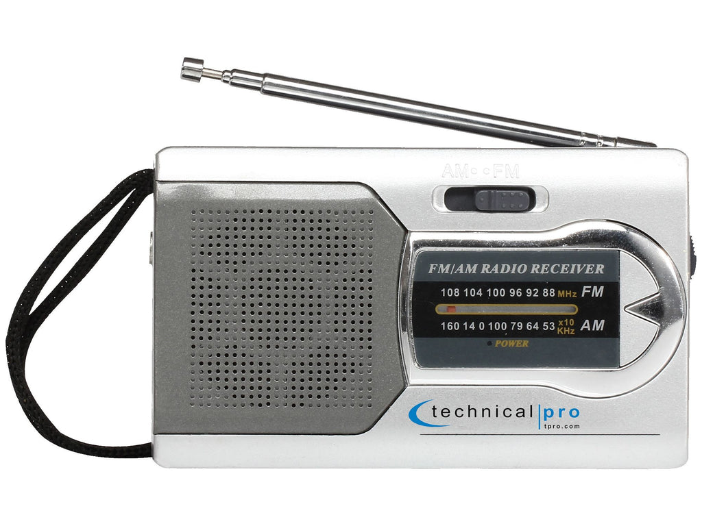 Technical Pro - AM/ FM Handheld Radio with Speaker
