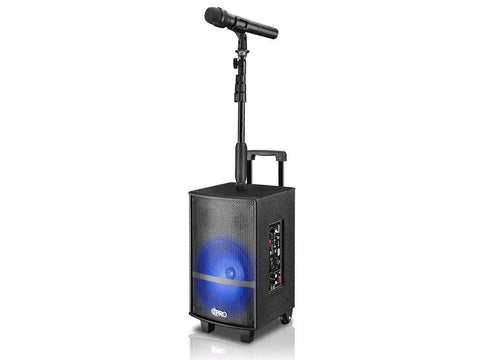 "Rechargeable 10"" LED Loudspeaker with Mic"