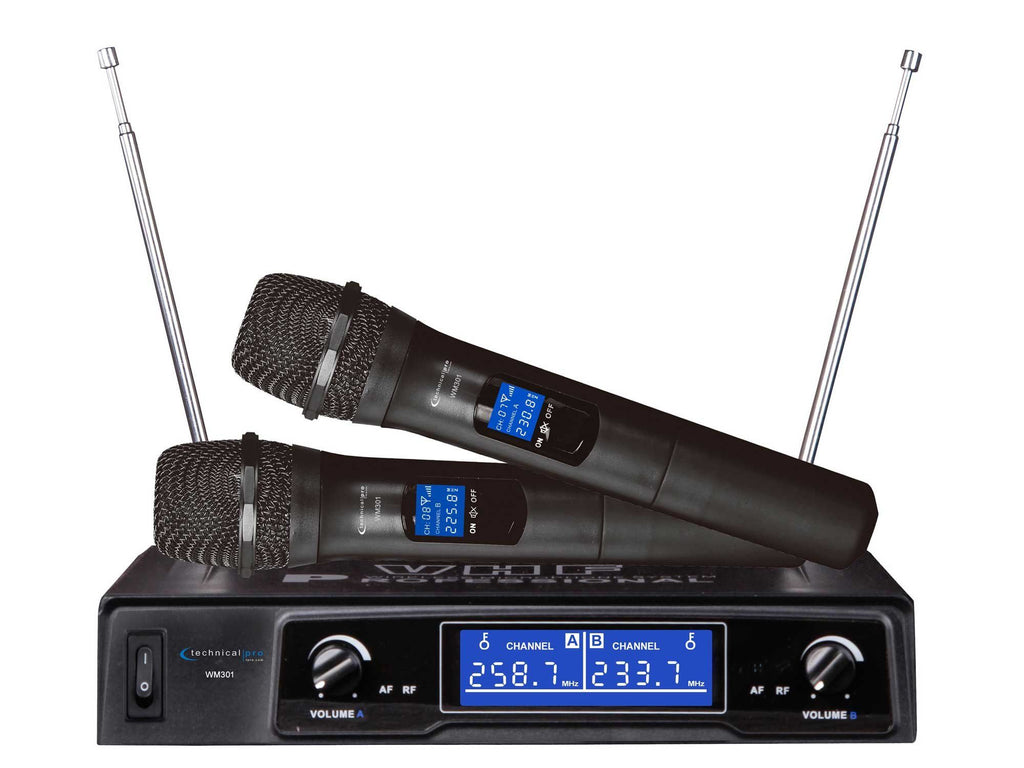technical pro pro vhf wireless microphone system technical pro. Black Bedroom Furniture Sets. Home Design Ideas