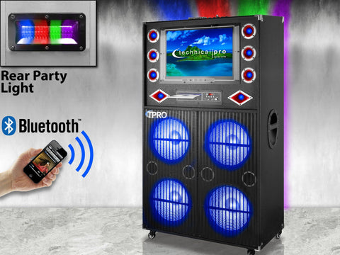 "Rechargeable 12"" Bluetooth LED Speaker Package"