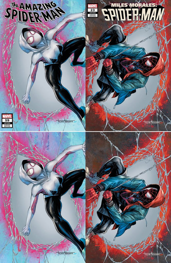 AMAZING SPIDER-MAN #59 + MILES MORALES #23 Kikham Set of 4