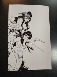 Vampirella Dark Powers #5 50 Copy Lee Black and White Virgin Variant