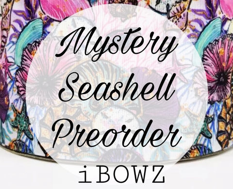 MYSTERY SEASHELL PREORDER HAIRBOW ~ Preorder hair bow ~ ibowz fun & funky hairbows