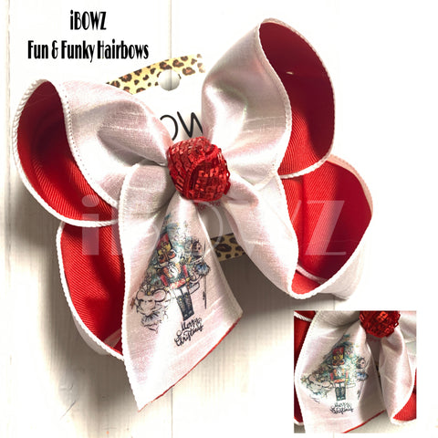 Christmas Nutcracker Party ~ Bow Only ~ OOAK Fun iBOWZ ~ Limited Time Only