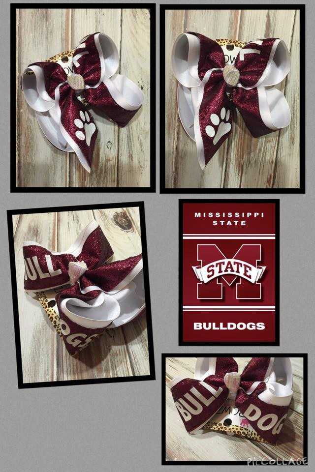 NEW LIMITED IBOWZ ~ MAROON AND WHITE ~ MISSISSIPPI STATE TEAM IBOWZ