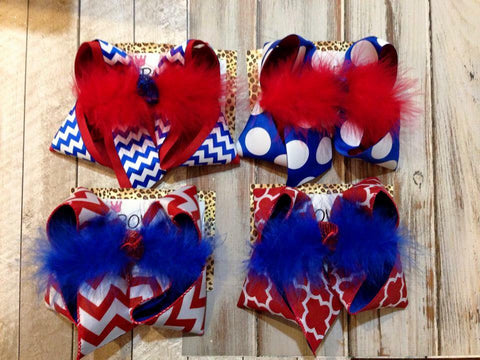 ROYAL | RED | WHITE SCHOOL BOWS
