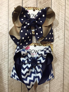 NAVY | WHITE | KAKIE SCHOOL HAIRBOWS