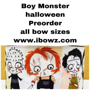 BOY MONSTER ~ MYSTERY PREORDER hair bow ~ ibowz fun & funky hairbows