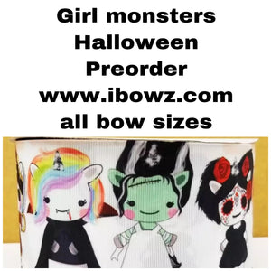 GIRL MONSTERS~ MYSTERY PREORDER hair bow ~ ibowz fun & funky hairbows