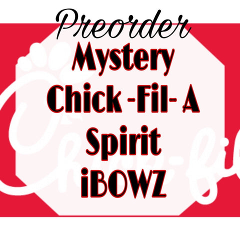 MYSTERY CHICK- FIL- A  PREORDER HAIRBOW ~ Preorder hair bow ~ ibowz fun & funky hairbows