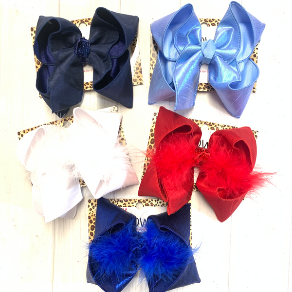 Silk Fun bows ~ Patriotic Colors perfect for all Red, White & Blue  occasions