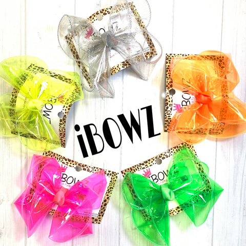 Bundle & Save $5 ~Limited time ~ New Neon Jellies Fun iBOWZ~ Waterproof Jelly Bows OH MY!!!  ~ iBOWZ Fun & Funky Hairbows