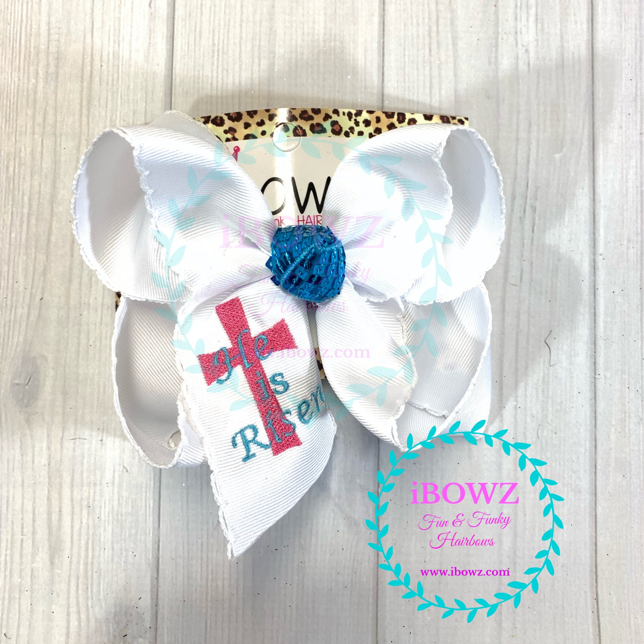 He is Risen Monogram Cross Easter Fun iBOWZ ~ New & Limited ~ Sparkle Thursday