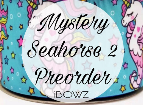 MYSTERY SEA HORSE { 2 }PREORDER HAIRBOW ~ Preorder hair bow ~ ibowz fun & funky hairbows