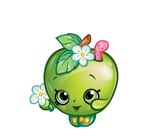 APPLE BLOSSOM  SHOPKINS~ APPLIQUE HAIRBOW & MATCHING SHIRT