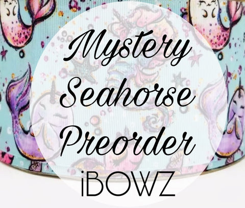 MYSTERY SEA HORSE  PREORDER HAIRBOW ~ Preorder hair bow ~ ibowz fun & funky hairbows