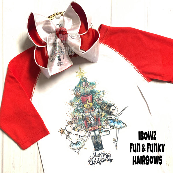 Christmas Nutcracker Party~ iBOWZ  + Shirt  Combo ~  One of a Kind Fun iBOWZ ~  Limited Time Only