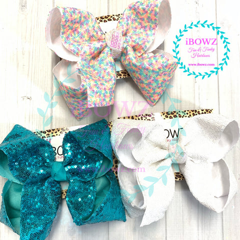 Bundle | New Flip Sequin Fun iBOWZ | Jojo Siwa inspired bows | iBOWZ Fun & Funky Hairbows