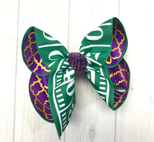 YardLine Football Field Team Hairbow | Team Spirit | Football Games | Lots of Choices