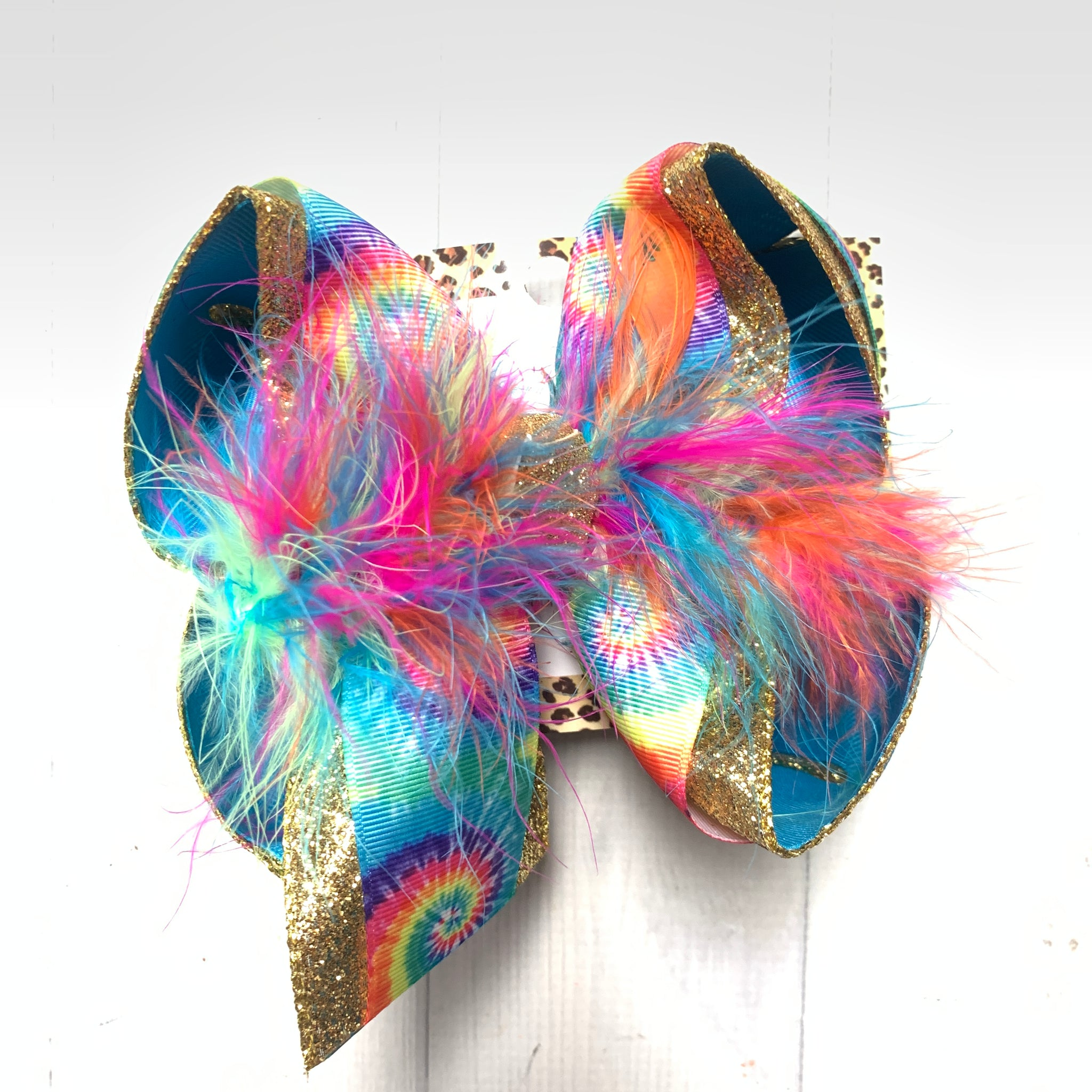 New Tie Dye Fun Hairbow ~ iBOWZ Fun & Funky Hairbows