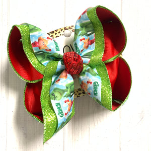 Christmas bow ~Grinch & Cindy Lou Fun iBOWZ~ All bow sizes available