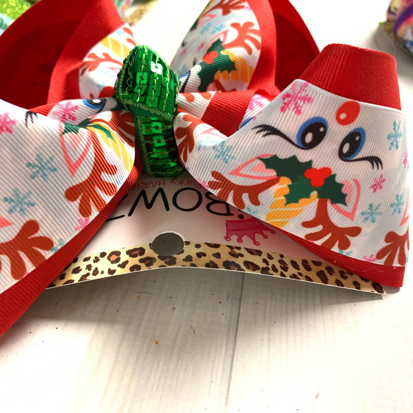 Rudolph The Reindeer Unicorn Fun Bow ~ Hairbow by iBOWZ