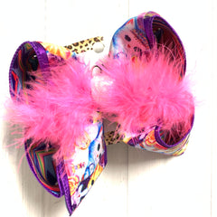 Lisa Frank Kitty Cat Fun Hairbow by iBOWZ~ Only available in Biggie , Large & XLG