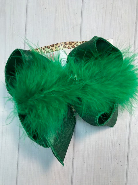 Emerald Green Silk Dressy Fall iBOWZ | Hairbow | Baby bow | Big Mega Bow