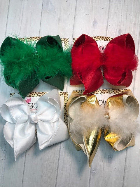Christmas Bow Bundle 4 pack  | iBOWZ| large & Xlg size Bundle
