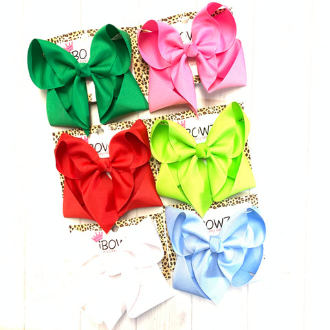 Christmas Solid Bundle #1 ~ Perfect Match for all your Favorite clothing brands~ iBOWZ Fun & Funky Hairbows