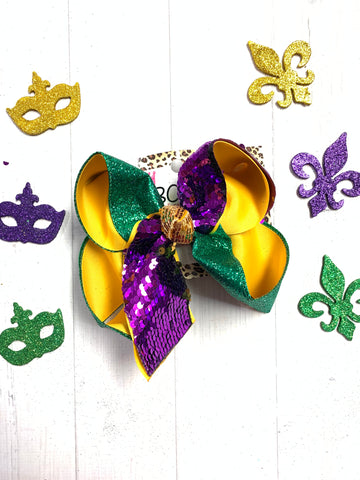 Mardi Gras Flip Sequin (Moving Sequins )| iBOWZ Fun & Funky Hairbows