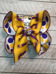 GO TEAM  LSU ~ New Tiger Fun iBOWZ hair bow | Game day bow | Sprit hair bow