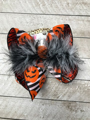 New Limited Halloween Striped & Zebra Fun Hair bow