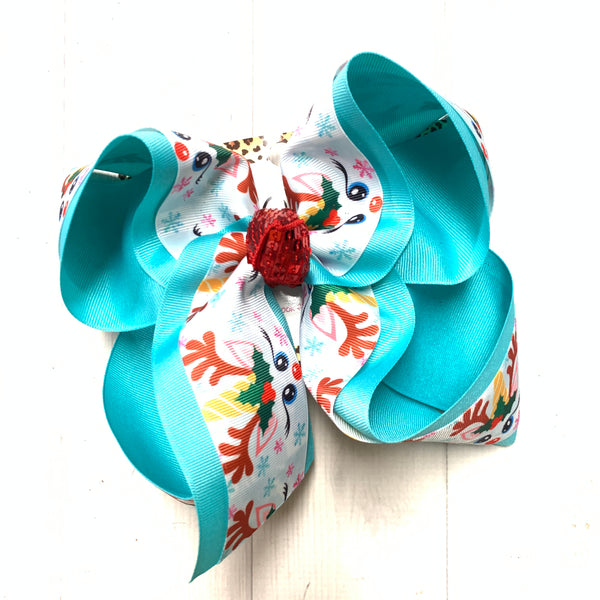 Reindeer Fun Hairbow by iBOWZ Fun & Funky Hairbows